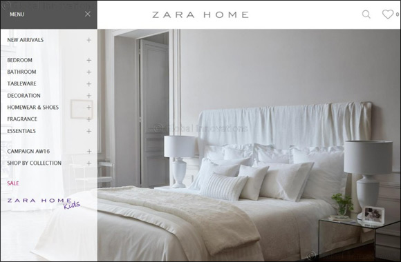 Zara Home Launches E-Commerce in Dubai
