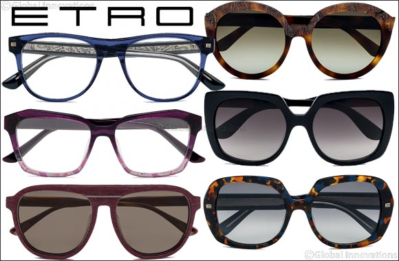 ETRO eyewear collection - Iconic paisley, unusual color combinations & sophisticated designs.