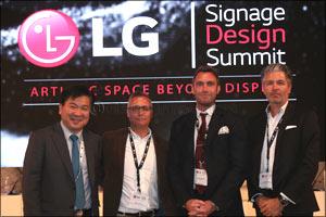LG captivates the imagination of the MEA design community with revolutionary OLED signage