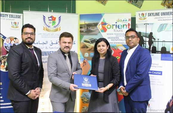 Skyline University College Signed a MOU with Orient Tours LLC