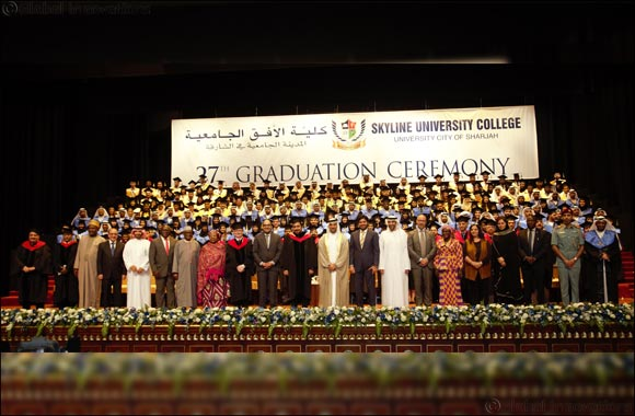 Six pairs of Emirati siblings marched together at Skyline's 27th Graduation Ceremony