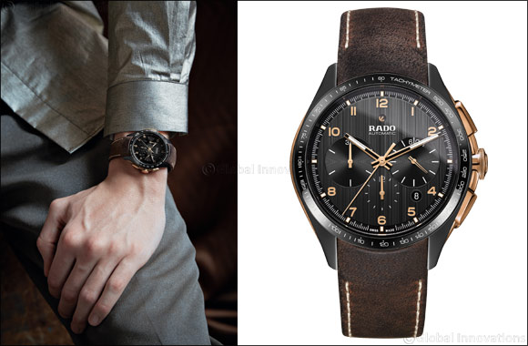 The New Rado HyperChrome Chronograph in bronze and high-tech ceramic