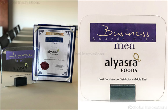 Alyasra Foods Named Best Foodservice Distributor in Middle East