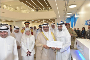 Kuwait's Prime Minister inaugurates Jazeera Airways terminal, honored as first passenger