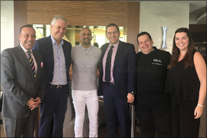Symphony Style Hotel Kuwait scores with football legends from Brazil and Argentina