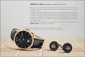 Cerruti 1881 MOLVENO timepiece and cufflinks