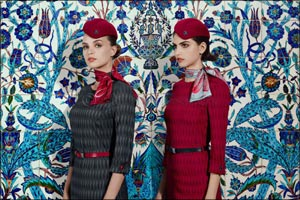 Turkish Airlines brings a new elegant style to the skies with its new cabin crew uniforms.