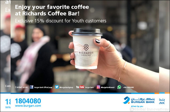 Burgan Bank Offers Exclusive Discount to Youth Customers on Richards Coffee Bar
