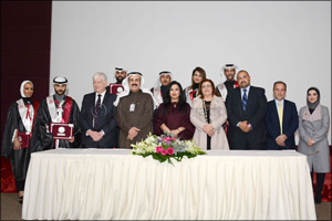 Burgan Bank attends the Institute of Banking Studies (IBS) Annual Graduation Ceremony which Honors i ...