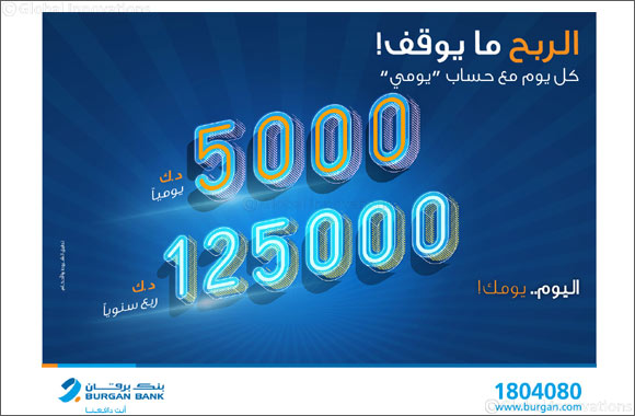'Burgan Bank announces names of the daily lucky winners of Yawmi account draw'