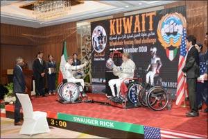 Burgan Bank and International Wheelchair Fencing Titleholder, Tareq Al-Qallaf Holds �Sabre Challenge ...