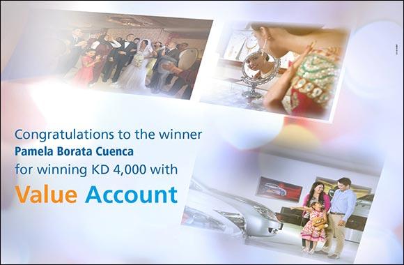 PAMELA BORATA CUENCA Wins KD 4000 in Burgan Bank's Value Account Draw