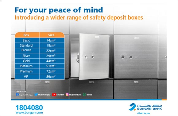 Burgan Bank Upgrades its Safe Deposit Box Service