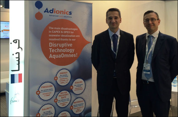 Adionics unveils SMARTEX, the smart desalination solution for Oil & Gas, Food & Beverages and Mining markets. From April 21th to 23rd